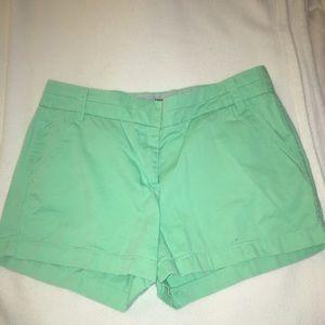 "J.Crew light  green ""Chino"" shorts"